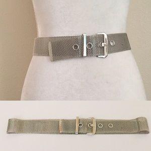 Silver Metal Mesh Belt